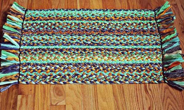 Как сделать коврик своими руками из старых вещей: мастер-класс пошагово : фото и схемы