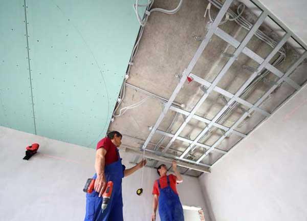 Демонтаж потолка из гипсокартона своими руками
