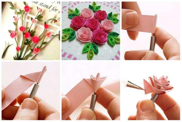 Как сделать розу для квиллинга 460