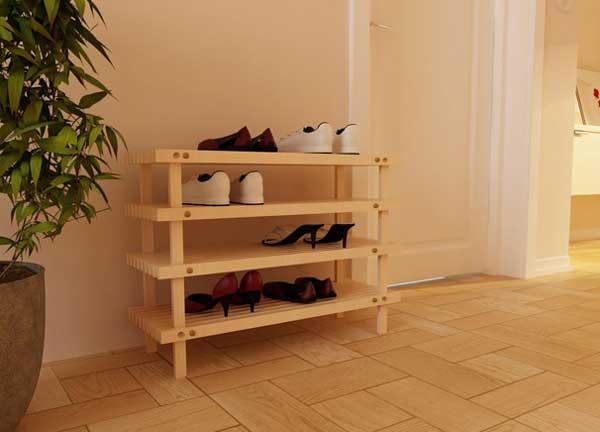 Этажерка для обуви своими руками из подручных материалов