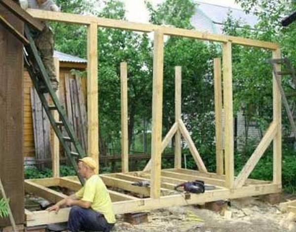 Как построить сарай своими руками к дому