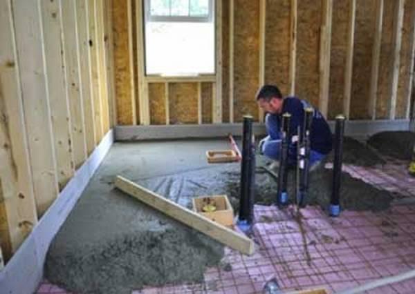 Как сделать в своем доме бетонный пол