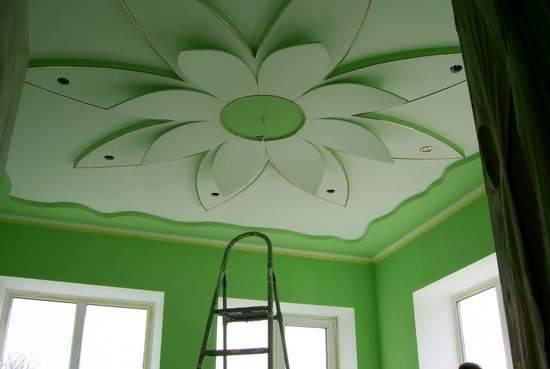 Фигурный потолок из пенопласта своими руками